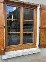 Fenêtre Chêne doré Porte-fenêtre | Agence de Coulommiers